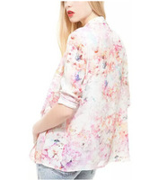 New Fashion Ladies' Vintage Floral print Blazer coat elegant loose non-button outwear casual brand designer tops
