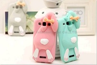 NEW Cute 3D Rabbit rubber Silicon case for galaxy s3 s4 phone back cases covers to samsung i9300 i9500