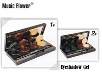 Brand Music Flower 8 color Mineral Pigment Eyeliner eyeshadow gel Cream Palette Smoky Eyes Makeup Set With Brush