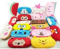 Cute Cartoon Pencil Pen Case Bag Hello Kitty SpongeBob SquarePants Peppa Pig Best Gift For Children Cheap Wholesale