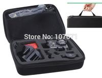 GOPRO Bag case Size M with hanger Carry Case For Gopro Hero3+ Hero3 Hero2 Gopro Bags Travel Camera Accessories POV 4.0 Black