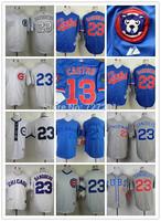 2014 Stitched Men's Chicago Cubs #23 Ryne Sandberg Throwback Baseball Jersey/ Shirt/ Cool Base Jersey ,Embroidery Logo,Mix Order