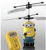 Hot sales despicable me 2 minion toys / rc helicopter / Children's gifts remote control aircraft, free shipping