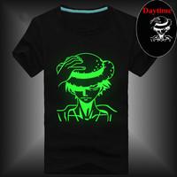 2014 Summer Men Muscle Hip Hop Neon Print T shirt Party& Club Night Light Freedom Novelty Rock Punk T shirt