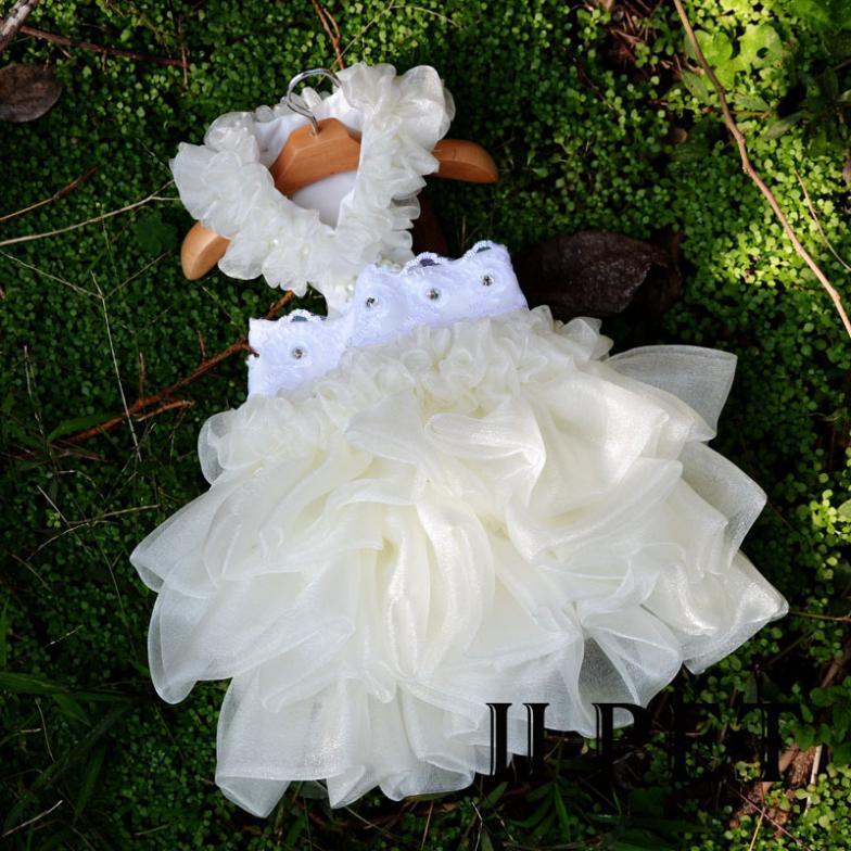 Iipet vestido de princesa de pelúcia pet roupas para cão de estimação de luxo capina beleza saia
