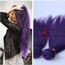 Show Hair Queen Love 3 Bundles /Lot Purple Brazilian/Malaysian/Peruvian/Mongolian Remy Human Hair Extension Hair Weft(China (Mainland))