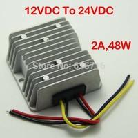 12V to 24V DC Converter for cars, 12V 24V voltage converter, 12VDC step up to 24VDC, 2A max, 48W, Power converter