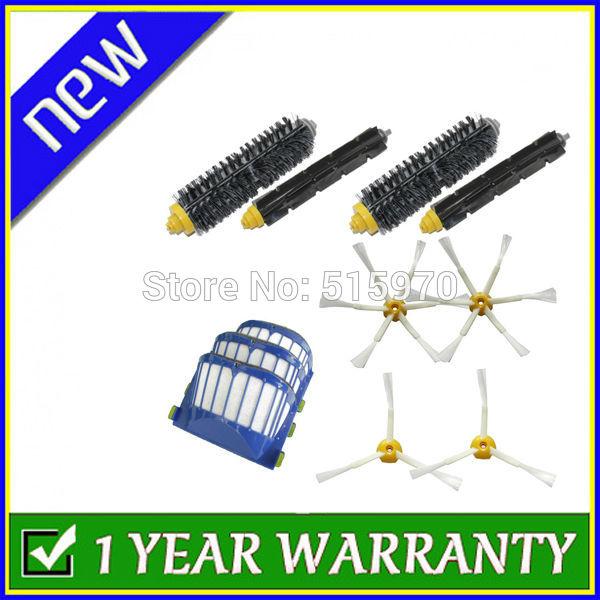 Aero Vac Filter + Brush 6 armed replenishment kit for iRobot Roomba 600 Series 620 630 650 660 670(China (Mainland))