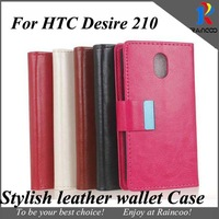 Free ship & Brand New For HTC Desire 210 high quality PU leather stand cover with card slot, for htc 210 cases,5 color