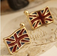 The 2014 Wholesale Retro UK National Flag Charm Womens Earrings
