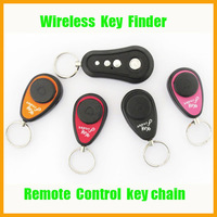 50pcs/lot Wireless Key Finder Seeker Locator, 1 RF Transmitter and 4 Receivers Find Lost Keys Keychain 25m