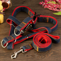 Pet traction belt Cowboy dog harness and collar Suitable for small and medium-sized dog Free shipping