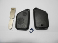 Peugeot 406 2 Buttons No Logo Replacement Car Key Shell Blank with 1 Chip Hole with 1 White Light Indicator