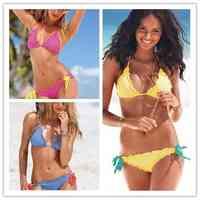 Sexy swimwear ladies bikinis big chest small chest gathered swimwear Size s m l 3 Color