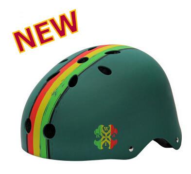Grado superiore bicicletta casco della bicicletta a scatto fisso casco di protezione della testa striscia gialla rullo di stampa x- sport pattinare casco