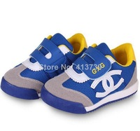 The new fashion  Small children's shoes Spring model Net cloth Rubber soles non-slip breathable children general Sports shoes