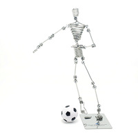 Kevin dolls handmade stainless steel crafts Soccer Boy birthday gift free shipping
