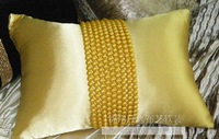 #904  Luxury hand sewing pearl belt ornament pillow car ornament  sofa cushion cover pillow case free shipping  wholesale