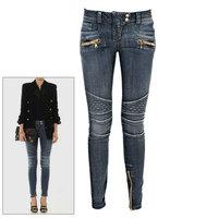 free shipping 2014 new Women's jeans black elastic slim pencil skinny Balmai pants denim trousers female 5 sizes