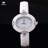 Hot- New Brand SHIKAI Watch Women Dress Watches High Quality Ceramic Bracelet Wristwatches