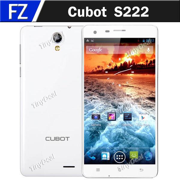 "Original Cubot S222 5.5"" IPS 1280 x 720 HD MTK6582 Quad Core Android 4.2.2 3G Phone 13MP CAM 1GB RAM 16GB ROM WiFi Display OTG(China (Mainland))"
