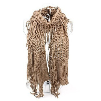 Free Shipping winter knitted Soft Warm scarf Fashion Shawl Thick Knitted Scarves scarf women QWJ009(China (Mainland))
