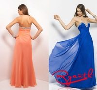 RBC 755 Simple Crystal Sweetheart Long Evening Dress 2014 Hot Selling Prom Dresses Robe De Soiree