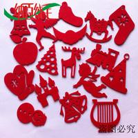 Christmas Decorations Felt Hang Small Gift Christmas Tree Cap Elk Harp Snowman Trojan Bells Xmas Ornament