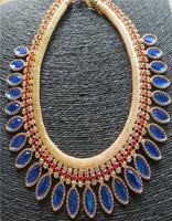 2014 New Luxuriant Elegant More gem Leaf Crystal Rhinestone Necklace MYL967