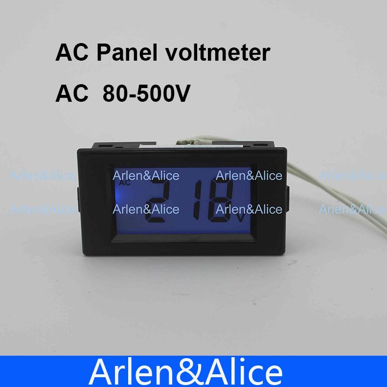 LCD display Voltage meter voltmeter range AC 80-500V Panel Monitor blue backlight(China (Mainland))