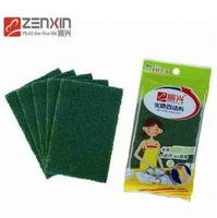 Free shipping Polyester kitchen cleaning cloth,washing dish cleaning cloth(15*10cm),Sponge scouring pad,5pcs/pack,10packs/lot