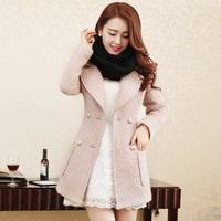 Plus Size S-XL,XXL,XXXL,XXXXL 2014 winter new fashion wool coat double breasted office ladies warm coat 1112