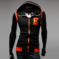 2014 Hot Sale Men's Fashion Sleeveless Eagle Embroidery Sweatshirt Male Casual Slim Fit Autumn Wear Free Shipping MWW214