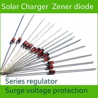 Lots 14 pcs Schottky Diode Rectifier Regulator  Solar panel 4733 diode 1W 5.1V Glass Line