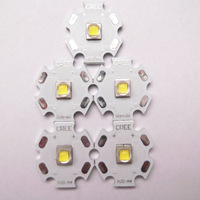CREE XM-L2 U3 Cool White LED Emitter with 20mm Aluminum Heating Star  5pcs