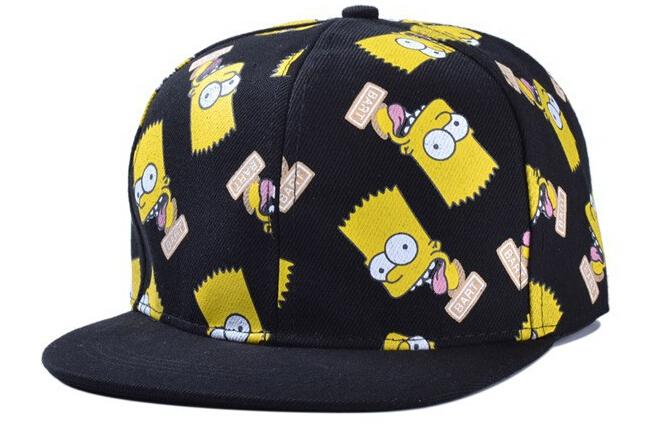 Hot selling 2014 new lovely cartoon Simpson hip-hop caps, fashion baseball caps summer lovers snapback cap hat wholesale(China (Mainland))