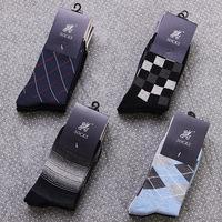 2014  autumn new fashion america europe high quality cotton  knitted dased argyle /thin stripes/ block men's socks