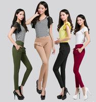 New 2014 Fashion Women Summer Slim Pants,Pleated Casual Harem Pants,Korean Style Long Trousers plus size XXL