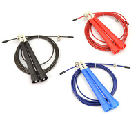 SPEED CABLE WIRE WEIGHT SKIP JUMP ROPE ADJUSTABLE LENGTH CARDIO HEART MMA
