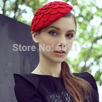 100% wool cap Women's Wool hats Flower Dome cap women's autumn cap Free Shipping WH041