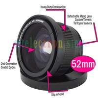 52MM 0.35x Super Wide Angle Fisheye Lens for Canon Sony Fuji Olympus Nikon D5000 D3100 D5100 D7000 D7100 D90 w/ 18-55mm Lens