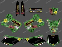 0217 New style(rock star)  TEAM GRAPHICS&BACKGROUNDS DECALS STICKERS Kits  Fit for KAWASAKI KX85 KX100 2001-2013
