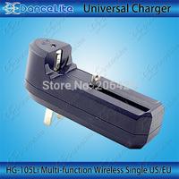 New Single Multifunctional Travel Charger For 18650 14500 16340 26650 Li-ion Battery  EU/US Plug