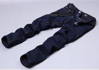 2014 new fashion men Brand jeans male slim skinny jeans blue denim pants CJ005