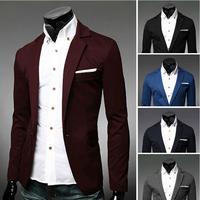 New Autumn Two buttons Casual Suit Fashion Slim fit suit men's clothing