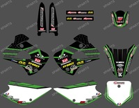 0218 New style net TEAM GRAPHICS&BACKGROUNDS DECALS STICKERS Kits  Fit for KAWASAKI KX85 KX100 2001-2013