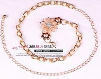 2014 New Euramerican Brief Pink Flower Fashion Sexy Belt YL038