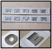 "Matt Silver Hood Trunk Sticker ""RANGE ROVER"" Plastic 3D Letter Sticker Emblem Badge"