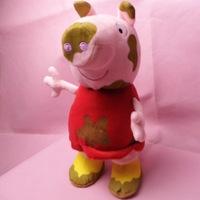 New Cartoon New Peppa Pig Mud 30cm Plush Toys George Pig Dolls Big Muddy Peppa  TV Anime Stuffed Animals Soft Doll Kids Gift