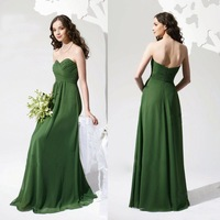 Hot 2014 new fashion A-line sweetheart draped sexy long chiffon Bridesmaid Dresses  custom made